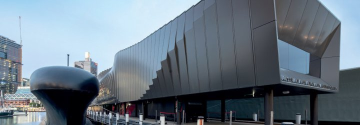 Wall cladding using steel made from COLORBOND® steel Ultra