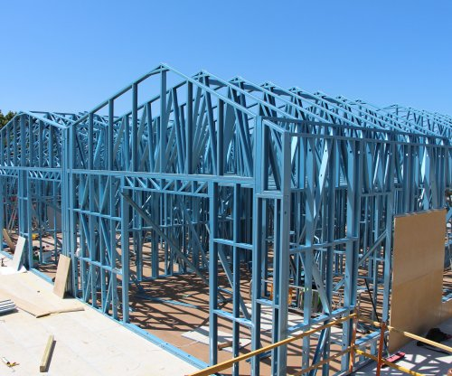 steel frames made from BlueScope's TRUECORE® steel for the three-story Zinnia Apartments residential development in the inner Melbourne suburb of Yarraville
